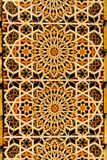 Moorish design on tiled wall Royalty Free Stock Photography