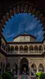 Moorish dome through in the pointed arch in Seville, Spain, Euro Royalty Free Stock Photo