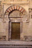 Moorish Door. Side door of the Mezquita in Cordoba, Spain.  It was once the largest mosque in Europe Royalty Free Stock Photography