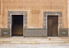 Moorish Doors at Alhambra Palace. Granada, Spain stock image