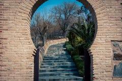 Moorish entrance way. Moorish  key way entrance way in Toledo Spain Stock Photo