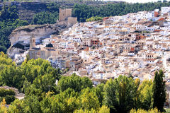 Moorish fortress in Spanish Alcala del Jucar Royalty Free Stock Photography