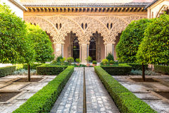 Moorish garden Zaragoza Spain Royalty Free Stock Photos