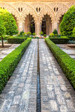 Moorish garden Zaragoza Spain Royalty Free Stock Photography