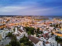 Beautiful Tavira by Gilao river, Algarve, Portugal Royalty Free Stock Images