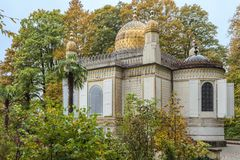 The Moorish Kiosk emerging from the forest Royalty Free Stock Photos