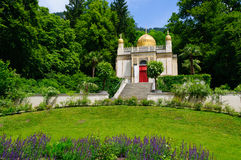 The Moorish kiosk at the Linderhof Palace in Germany. Linderhof Palace is in southwest Bavaria near Ettal Abbey in Germany. It is the smallest of the three Stock Image