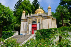 The Moorish kiosk at the Linderhof Palace in Germany. Linderhof Palace is in southwest Bavaria near Ettal Abbey in Germany. It is the smallest of the three stock photos