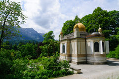 The Moorish kiosk at the Linderhof Palace in Germany. Linderhof Palace is in southwest Bavaria near Ettal Abbey in Germany. It is the smallest of the three royalty free stock photography