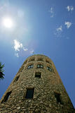Moorish lookout tower in Puerto Banus Spain Stock Photos