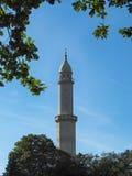 Moorish Minaret in the Lednice. Valtice Cultural Landscape Area, South Moravia, Czech Republic Royalty Free Stock Images
