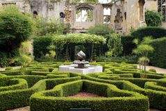 Moorish mosaic fountain, Sudeley Castle, England Stock Photography