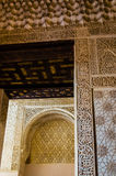 Moorish Architecture and Motifs. Moorish architecture at the Alhambra in Granada Spain stock photography