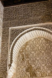 Moorish Motifs and Architecture. Moorish Style motifs in the Alhambra palace in Granada, Spain royalty free stock photos