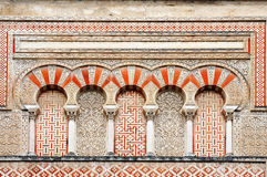 Moorish ornaments. Wonderful moorish ornaments at the Mezquita in Cordoba, spain Royalty Free Stock Photo