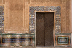 Moorish ornate wall with door Stock Photos