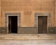 Moorish ornate wall with door Stock Images