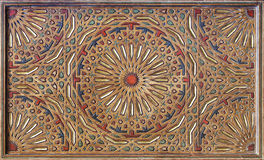 Moorish painting on wood ceiling Stock Image
