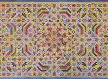 Moorish painting on wood ceiling Stock Image