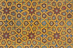 Moorish painting on wood Stock Photography
