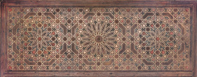 Moorish painting on wood. Elaborate painting on wood in Moorish style Stock Photography