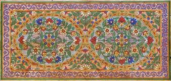 Moorish painting on wood. Elaborate painting on wood in Moorish style Stock Image