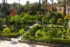 Moorish Palace and garden in Seville, Stock Images