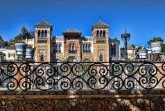 Moorish palace. General view of Moorish palace in seville, spain stock photography