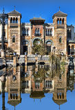 Moorish palace. General view of Moorish palace in seville, spain stock photo