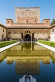 Moorish palace in Granada royalty free stock photography