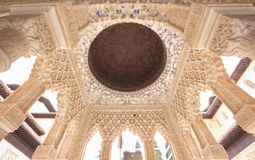 Moorish Palace interior, Alhambra, Spain Royalty Free Stock Photo