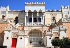 Moorish Palazzo Sticchi в Санте Cesarea Terme, Италии Стоковые Изображения