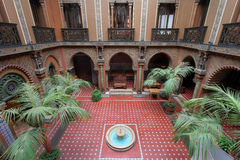 Moorish patio, Lisbon, Portugal Stock Photography