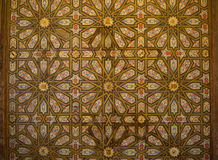 Moorish pattern at Real Alcazar, Sevilla, Spain Royalty Free Stock Image