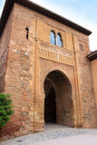 Moorish Puerta Del Vino in Alhambra, Granada, Spanien Lizenzfreie Stockfotografie