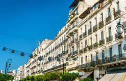 Moorish Revival architecture in Algiers, Algeria. Moorish Revival architecture in Algiers, the capital of Algeria stock photo