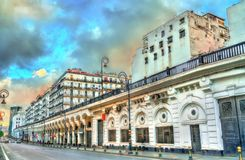 Moorish Revival architecture in Algiers, Algeria. Moorish Revival architecture in Algiers, the capital of Algeria stock image