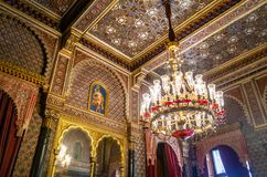 Moorish Room at Catete Palace, the former presidential palace now houses the Republic Museum - Rio de Janeiro, Brazil. Rio de Janeiro, Brazil - Oct 24, 2017 stock photography