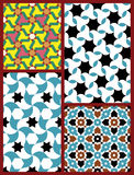 Moorish Seamless Patterns Set Five Royalty Free Stock Photography