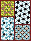 Moorish Seamless Patterns Set Five Royalty Free Stock Photography