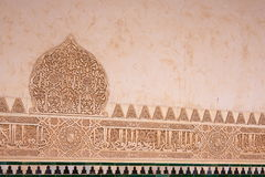 Moorish stone carvings in Alhambra Palace, Granada, Spain Stock Photos