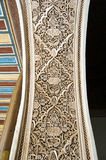 Moorish style stucco background. A detail of a Moorish style stucco of an arch in Marrakesh Royalty Free Stock Photo