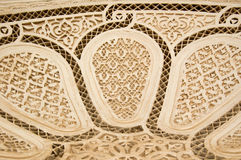 Moorish style stucco background. A detail of a Moorish style stucco in Marrakesh Stock Images