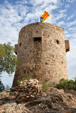 Moorish Tower in Tossa del Mar. The Torre Can Magi Tower, Torre des Moros, Moorish Tower in Tossa de Mar, Catalonia, Spain Stock Photography