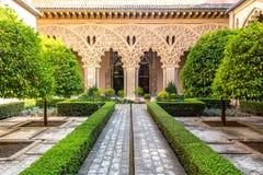 moorish trädgårds- Zaragoza Spanien royaltyfria foton