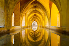 Moorish underground bath in Sevilla Alcazar Stock Photo