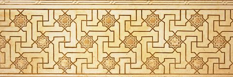Moorish wall decoration in Nasrid palalce, Alhambra, Granada Stock Photography