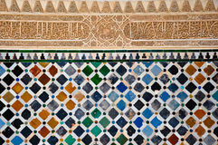 Moorish Wall Patterns (Stone Carving and Tiles) Royalty Free Stock Photos