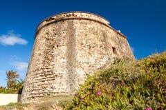 Moorish Watchtower on the Coast of Spain Stock Photos