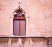 Moorish window split Croatia. Ornate Moorish window on a building  in split Croatia Stock Photos